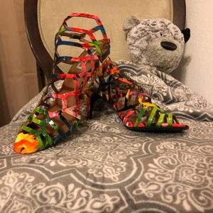 Multicolored Heels.